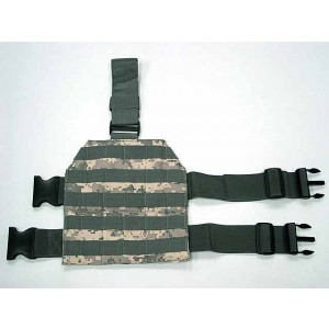Airsoft Molle Drop Leg Panel Platform Digital ACU Camo