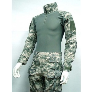 EMERSON Combat Shirt & Pants Digital ACU Camo w/ Elbow & Knee Pads Version 1
