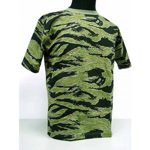 Camouflage Short Sleeve T-Shirt Tiger Stripe Camo