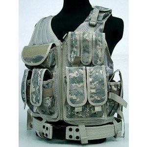 Airsoft Tactical Hunting Combat Vest Digital ACU Camo