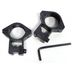 "1""25mm High Scope/Flashlight Ring Mount for 11mm Rail"