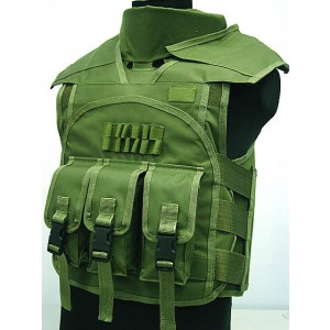 Airsoft Paintball Tactical Combat Assault Vest OD