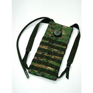 Molle 3L Hydration Water Backpack Digital Camo Woodland