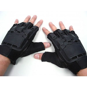SWAT Half Finger Airsoft Paintball Tactical Gear Gloves