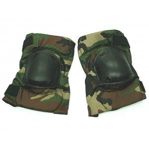 Special Force Airsoft Paintball Knee Pads Camo Woodland