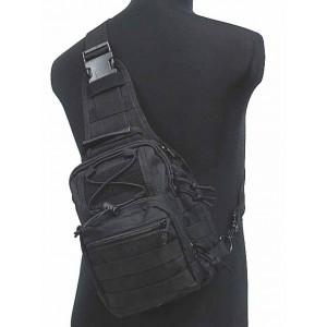 Tactical Utility Gear Shoulder Sling Bag Black S