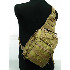 Tactical Utility Gear Shoulder Sling Bag Coyote Brown S