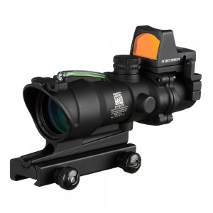 ACOG Type TA01NSN 4x32 Cross Sight Scope w/OP Red Dot Sight #B