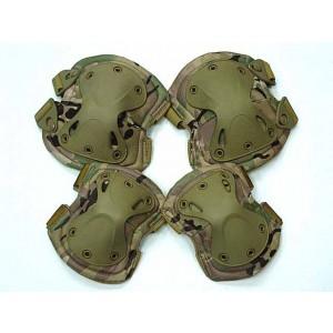 SWAT X-Cap Airsoft Paintball Knee & Elbow Pads Multi Camo