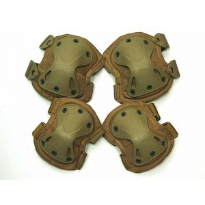 SWAT X-Cap Airsoft Paintball Knee & Elbow Pads Desert Tan