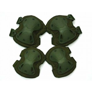 SWAT X-Cap Airsoft Paintball Knee & Elbow Pads OD
