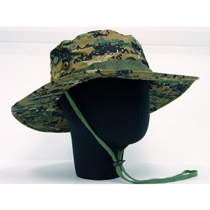 MIL-SPEC Boonie Hat Cap Digital Camo Woodland