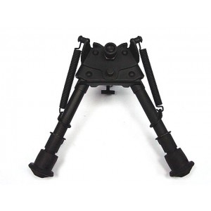 "6-9"" Spring Rifle Shooter Bipod w/20mm RIS Rail Adaptor"