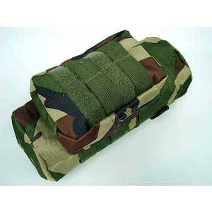Molle Water Bottle Medic Pouch Camo Woodland