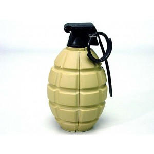 SY Gas Powered Pineapple Hand Metal Grenade Tan SY838