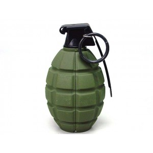 SY Gas Powered Pineapple Hand Metal Grenade OD SY838