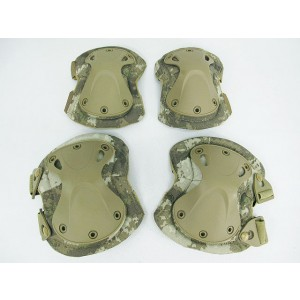 SWAT X-Cap Airsoft Paintball Knee & Elbow Pads A-TACS Camo