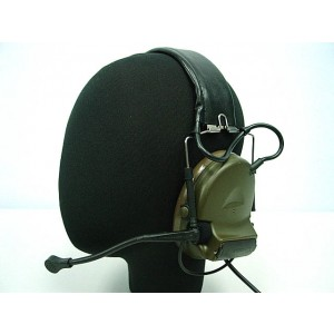 Element Comtac II Style Headset OD for Kenwood PTT 2 Pin Radio Z041 & Z113
