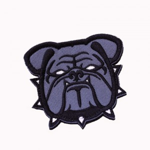 USMC US Marine Corps Bulldog Bull Dog Velcro Patch Black
