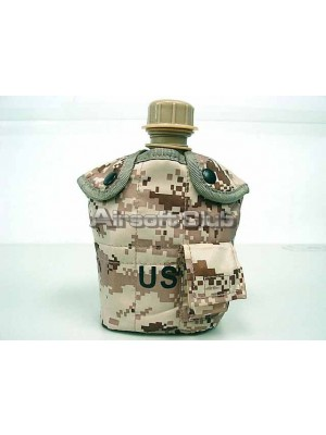 1Qt Canteen Water Bottle w/Pouch & Cup Digital Desert Camo