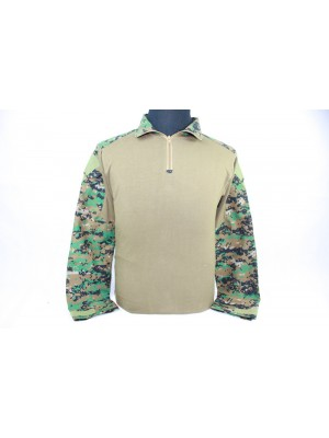 Tactical Combat Shirt Type B Digital Camo Woodland