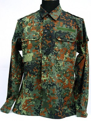 German Army Camo Woodland BDU Uniform Shirt Pants