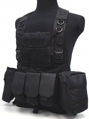 FSBE LBV Load Bearing Molle Assault Vest Black