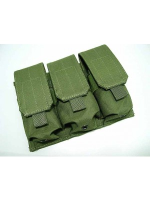 Airsoft Molle Triple Magazine Pouch OD