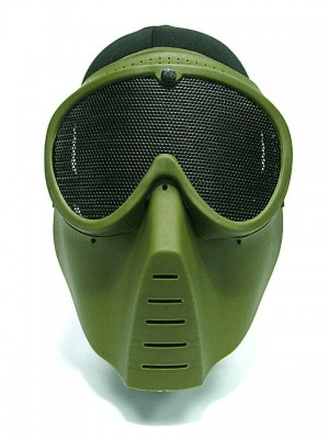 Airsoft Paintball Full Face No Fog Goggle Mask OD