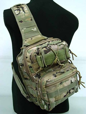 Tactical Utility Gear Shoulder Sling Bag Multi Camo M