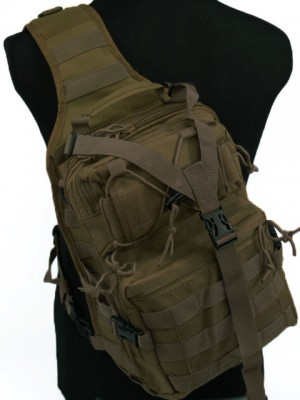 Tactical Utility Gear Sling Bag Backpack Coyote Brown L