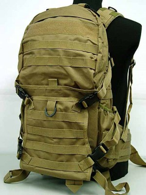 Tactical Molle Patrol Rifle Gear Backpack Coyote Brown