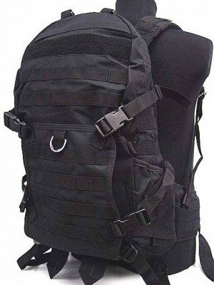 Tactical Molle Patrol Rifle Gear Backpack Black