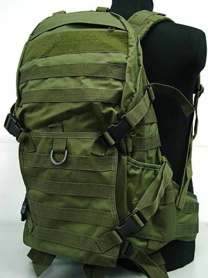 Tactical Molle Patrol Rifle Gear Backpack OD