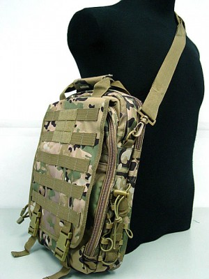 Molle Utility Shoulder Bag Notebook Case Multi Camo