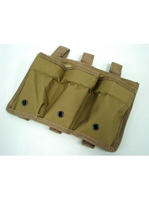 Airsoft Molle Triple Magazine Open Top Pouch Coyote Brown