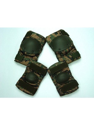 SWAT Special Force Knee & Elbow Pads Digital Camo Woodland
