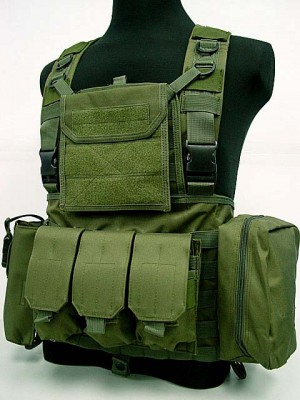 FSBE LBV Load Bearing Molle Assault Vest OD