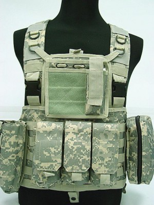 FSBE LBV Load Bearing Molle Assault Vest Digital ACU Camo