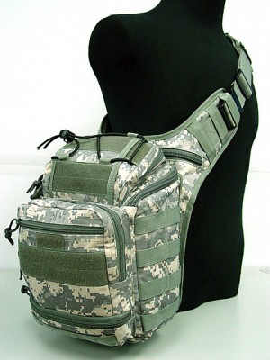 Multi Purpose Molle Gear Shoulder Bag Digital ACU Camo