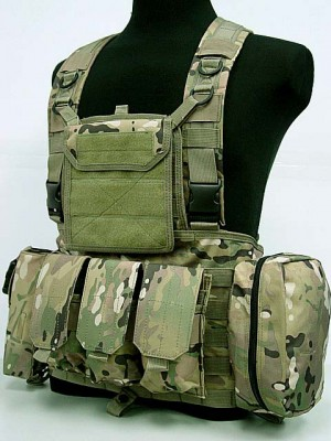 FSBE LBV Load Bearing Molle Assault Vest Multi Camo