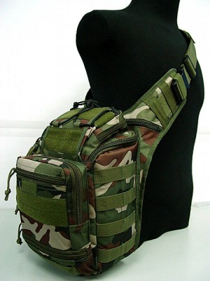 Multi Purpose Molle Gear Shoulder Bag Camo Woodland