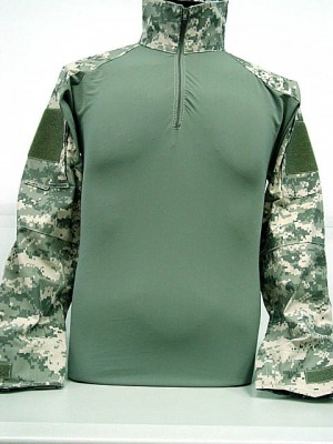 Tactical Combat Shirt w/ Elbow Pad Digital ACU Camo