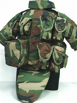 OTV Body Armor Carrier Tactical Vest Camo Woodland