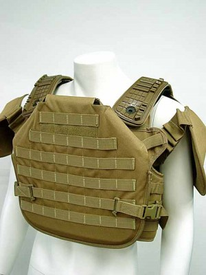 Tactical Molle Plate Carrier Recon Armor Vest Coyote Brown