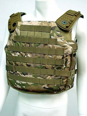 Tactical Molle Plate Carrier Recon Armor Vest Multi Camo