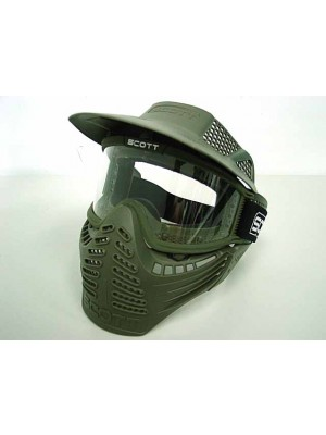 Full Face Airsoft Paintball Goggle Clear Lens Mask OD