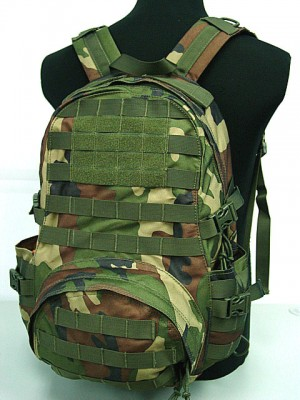 Molle Patrol Series Gear Assault Backpack Camo Woodland