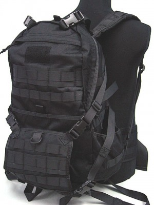 Molle Patrol Series Rifle Gear Backpack Black