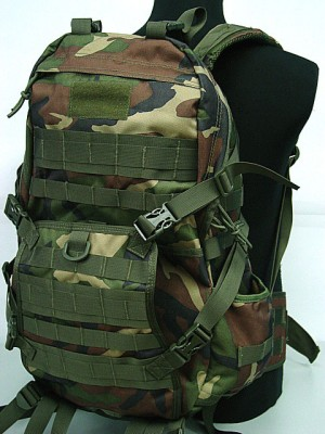 Molle Patrol Series Rifle Gear Backpack Camo Woodland